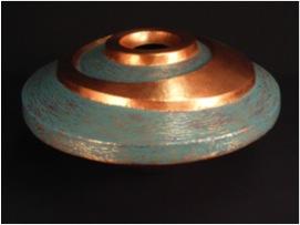 """Copper Vase- 14"""" x 12"""" x 14"""""""