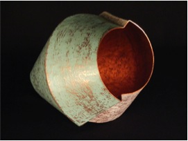 "Offset Copper Shell- 12"" x 8"" x 8"""