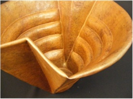 Copper Ribbed Vessel Detail
