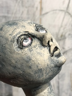 In Need of Grace Sculpture Face Detail